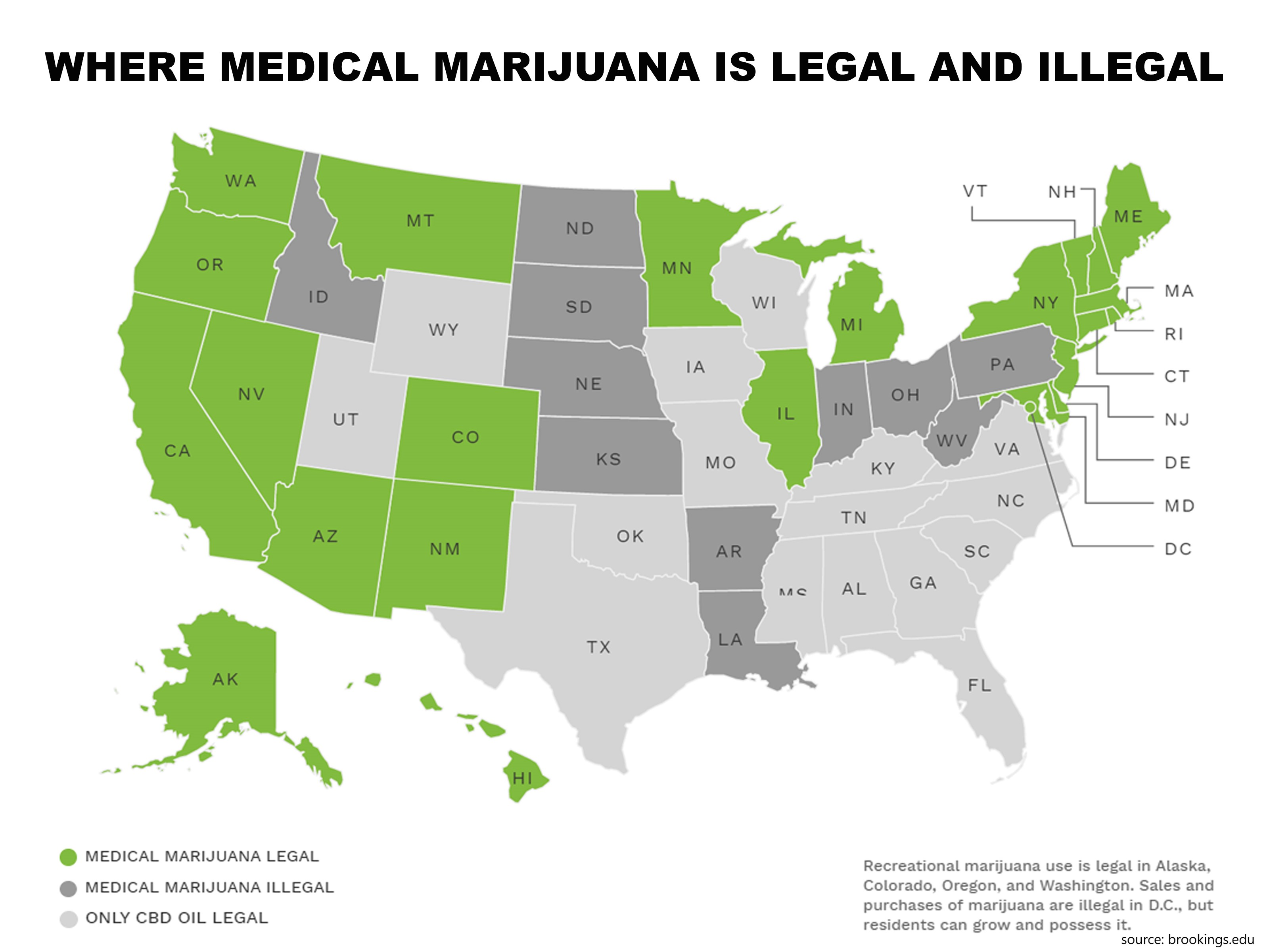 map of states where cbd and cannabis are legal
